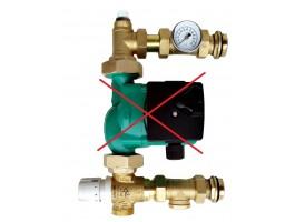 Festwertregelset / Pumpengruppe für Fußbodenheizung ohne Pumpe