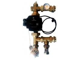 Festwertregelset / Pumpengruppe für Fußbodenheizung mit Pumpe RUNDFOS