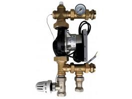 Festwertregelset / Pumpengruppe für Fußbodenheizung mit Pumpe WILO YONOS