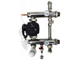 Festwertregelset / Pumpengruppe für Fußbodenheizung mit Pumpe GRUNDFOS