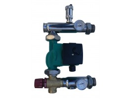 Festwertregelset / Pumpengruppe für Fußbodenheizung mit Pumpe IBO + AFRISO ventil