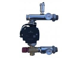 Festwertregelset / Pumpengruppe für Fußbodenheizung mit Pumpe WEBERMAN + AFRISO ventil
