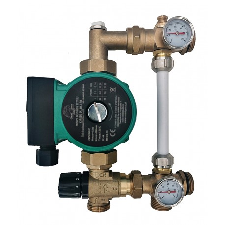 Festwertregelset / Pumpengruppe für Fußbodenheizung mit Pumpe OMI