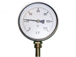 Thermometer Ø63mm 0-120 °C radial